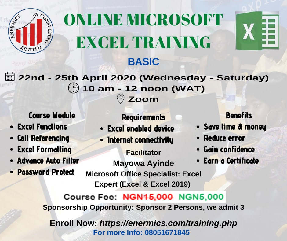 Online Microsoft Excel Training